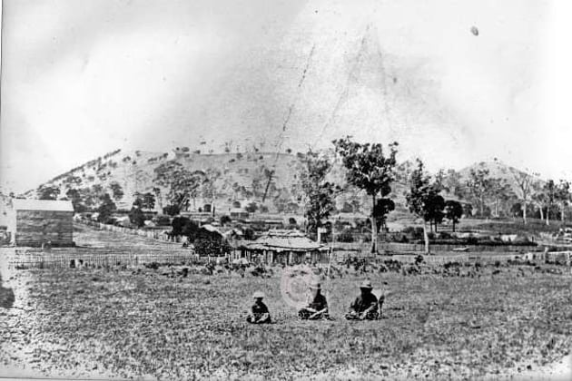 13a - Aborigines near Mt. Leura, c1870