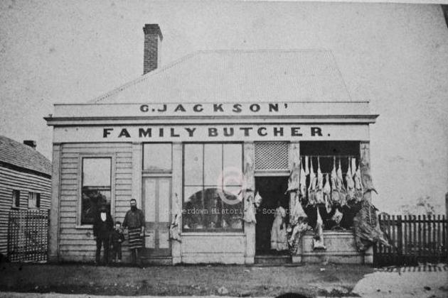321a - C. Jackson, Family Butcher, c1880