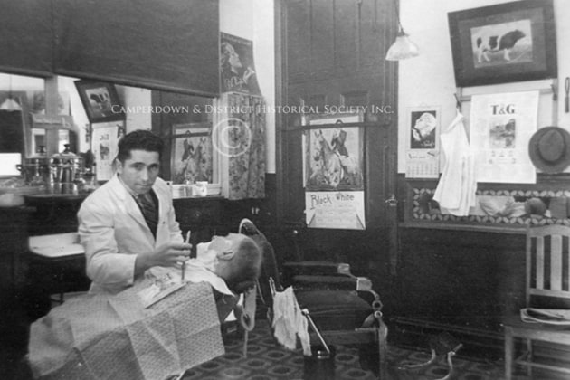 37. The Toby Lane barber shop, 1936