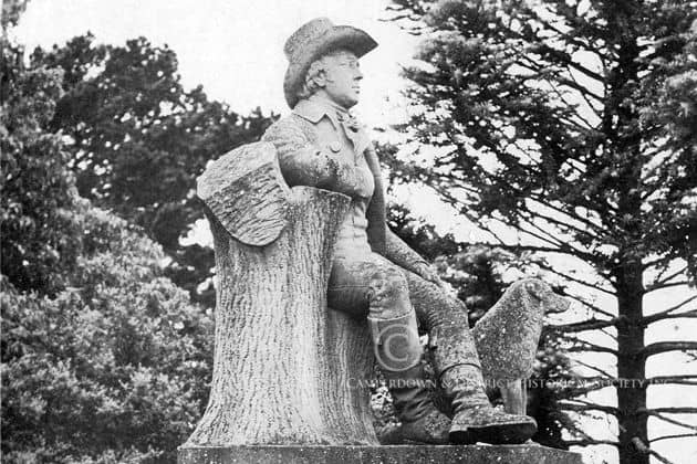 599. Robert Burns statue, 1917