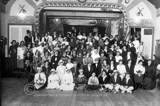 74. Fancy dress ball, IOOF Hall, c1930